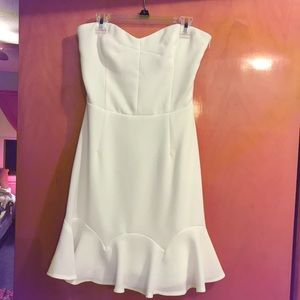 Fun & Flirty White Strapless Dress!!